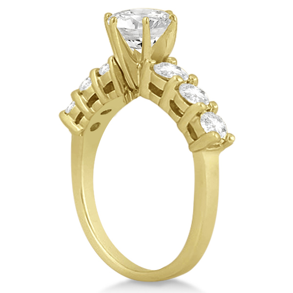 Seven-Stone Diamond Engagement Ring in 14k Yellow Gold (0.30 ctw)