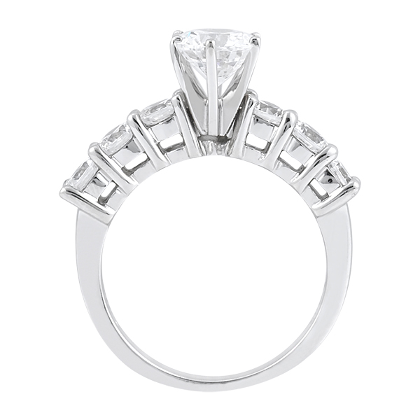 Seven-Stone Diamond Engagement Ring in Palladium (0.30 ctw)