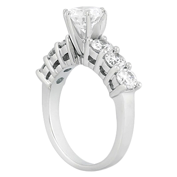 Seven-Stone Diamond Engagement Ring in Platinum (0.30 ctw)