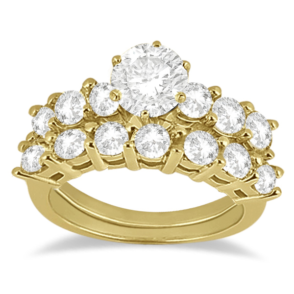 0.65ct Diamond Engagement Ring with Matching Engagement Band 18k Yellow Gold