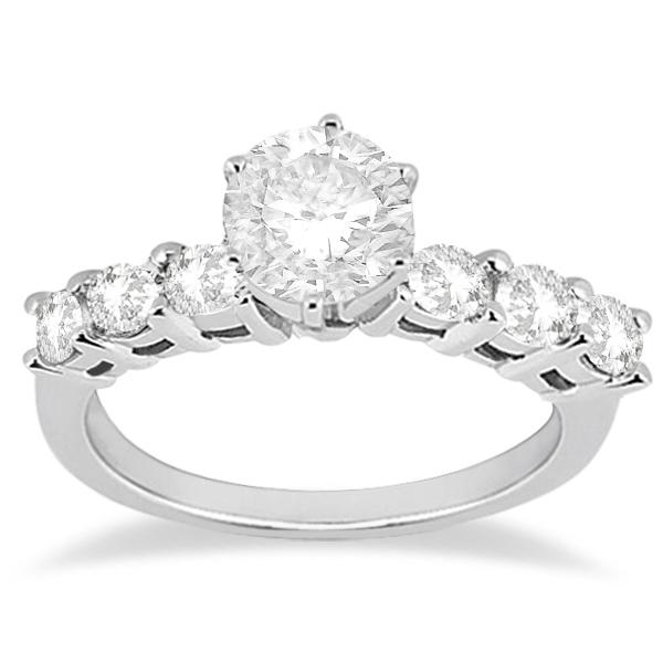 0.65ct Diamond Engagement Ring with Matching Engagement Band Palladium