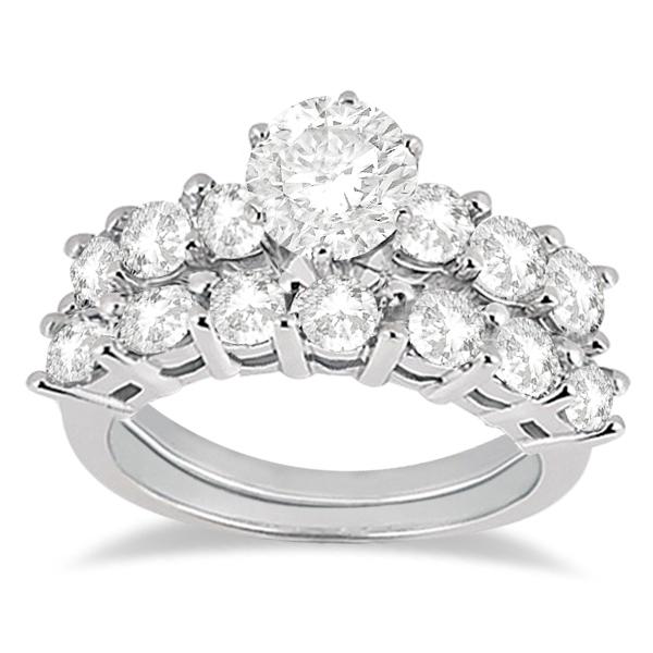 0.65ct Diamond Engagement Ring with Matching Engagement Band Platinum