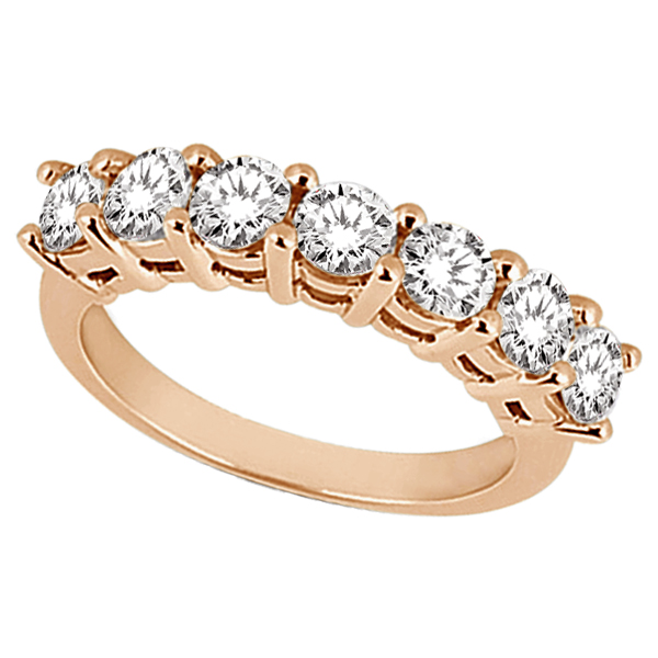 Semi-Eternity Diamond Wedding Band in 14k Rose Gold (0.35 ctw)