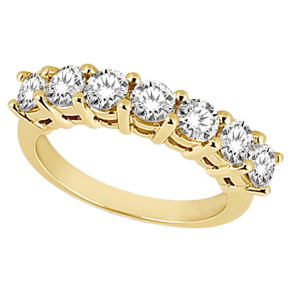 Semi-Eternity Diamond Wedding Band in 14k Yellow Gold (0.35 ctw)