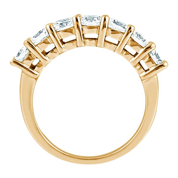 Semi-Eternity Diamond Wedding Band in 18k Rose Gold (0.35 ctw)