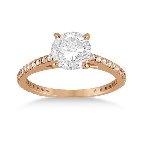 Petite Eternity Diamond Engagement Ring 14k Rose Gold (0.55ct)