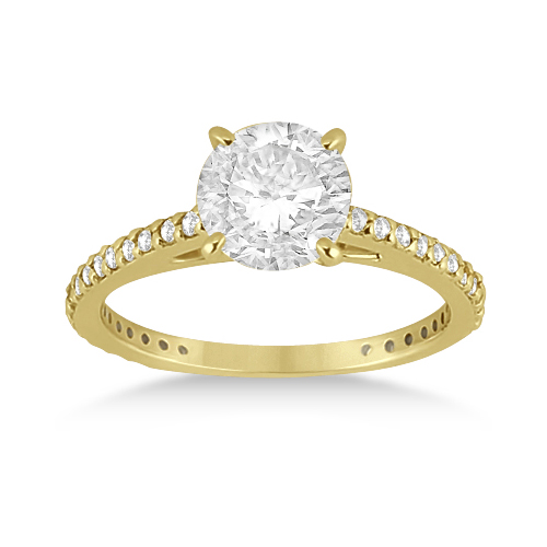 Petite Eternity Diamond Engagement Ring 18k Yellow Gold (0.55ct)