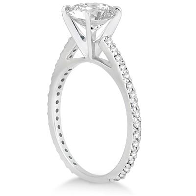 Petite Eternity Diamond Engagement Ring Palladium (0.55ct)