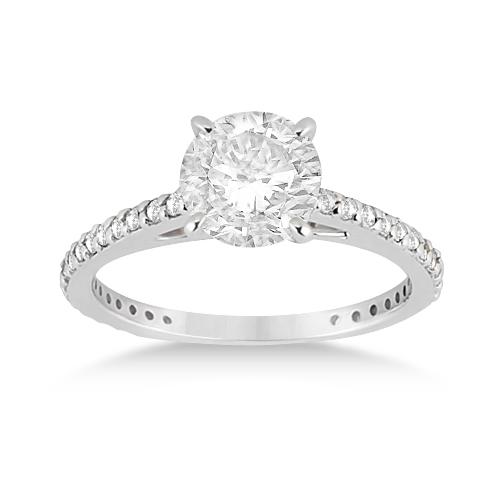 Petite Eternity Diamond Engagement Ring Platinum (0.55ct)