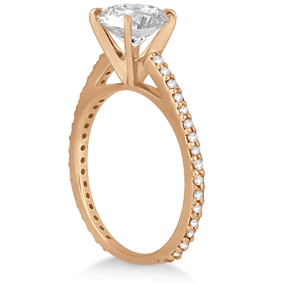 Eternity Diamond Engagement Ring & Band Set 18k Rose Gold (1.10ct)