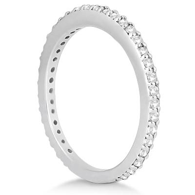 Pave Set Eternity Diamond Wedding Ring Band Platinum (0.55ct)