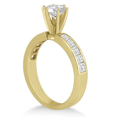 Channel Set Princess Diamond Engagement Ring 14k Yellow Gold (0.50ct)