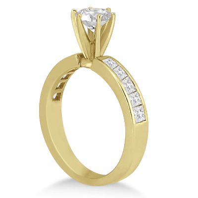 Channel Set Princess Diamond Engagement Ring 18k Yellow Gold (0.50ct)