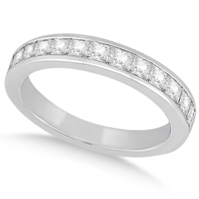 Princess Diamond Engagement Ring & Bridal Set 14k White Gold (1.10ct)