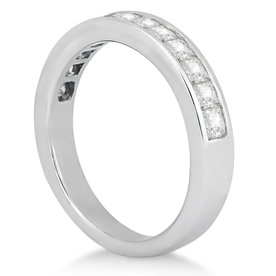 Channel Set Princess Diamond Wedding Band Platinum (0.60ct)