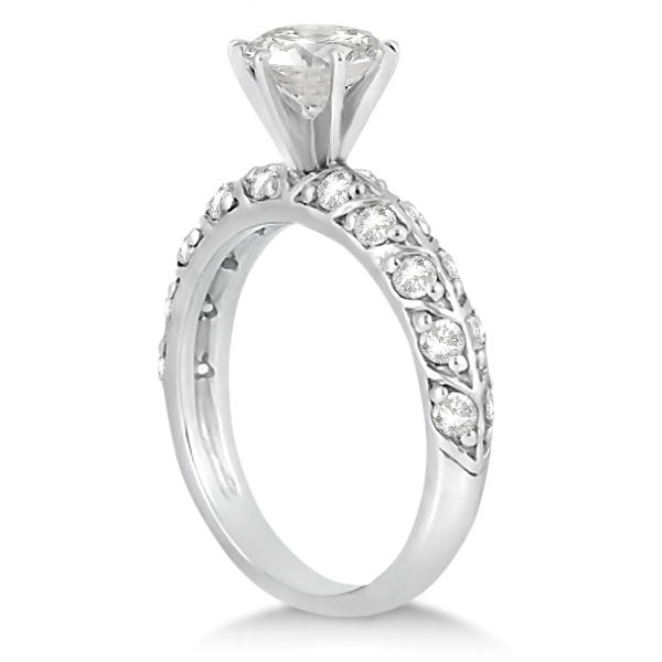 Designer Diamond Engagement Ring Setting Palladium (0.70ct)