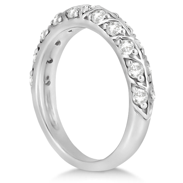 Designer Diamond Bridal Set Ring and Band in 14k White Gold (1.43ct)