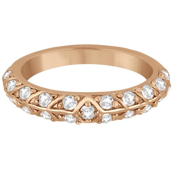 Unique Designer Diamond Wedding Ring in 14k Rose Gold (0.70ct)