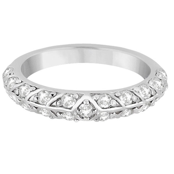 Unique Designer Diamond Wedding Ring in Palladium (0.70ct)