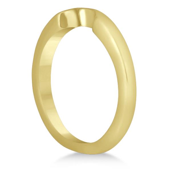 Heart Shaped Engagement Ring & Wedding Band Bridal Set 18k Yellow Gold