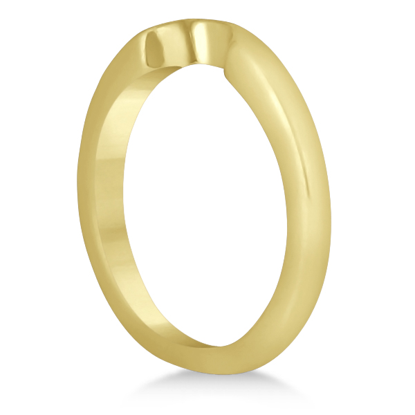 Matching Notched Wedding Band to Heart Shaped Ring in 14k Yellow Gold