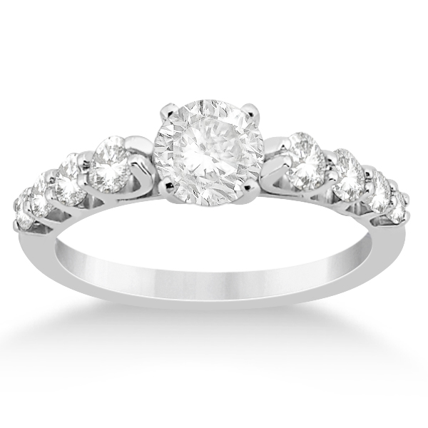 Graduated Diamond Accented Engagement Ring Platinum (0.50ct)