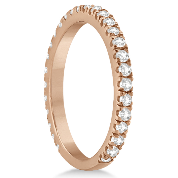 Round Diamond Eternity Wedding Ring 14K Rose Gold Diamond Band (0.58ct)