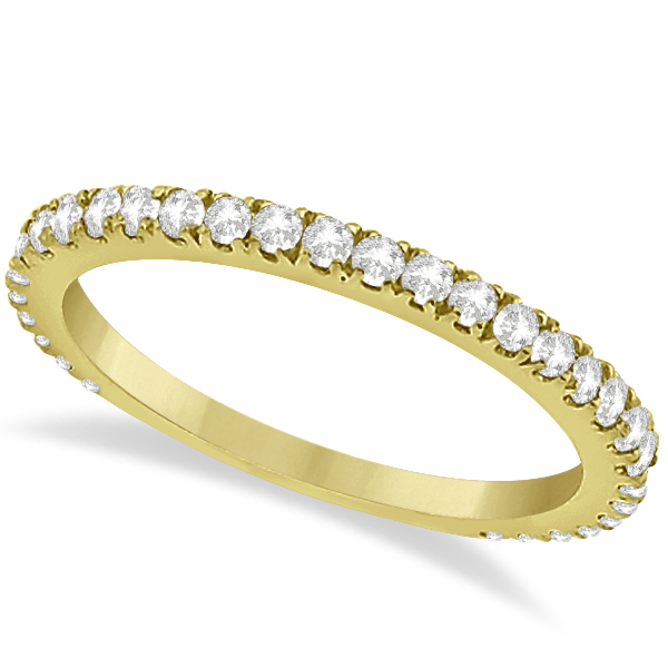 Halo Cushion Diamond Engagement Ring Bridal Set 14k Yellow Gold (1.07ct)