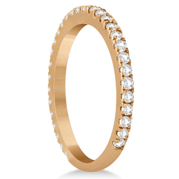 Diamond Eternity Wedding Band for Women 14K Rose Gold Ring (0.47ct)