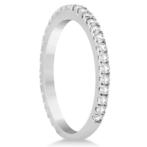 Diamond Eternity Wedding Band for Women platinum Ring (0.47ct)