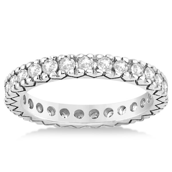 Women's Pave Set Diamond Eternity Wedding Band in Platinum 0.45ct