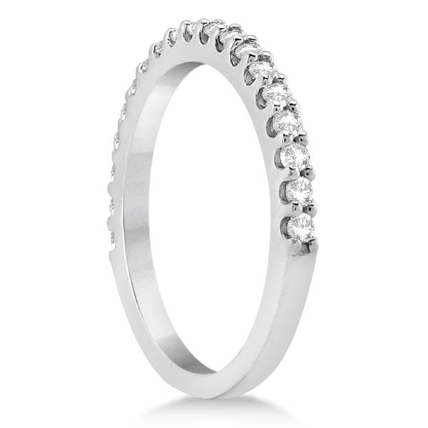 Diamond Semi Eternity Wedding Band Pave Set Platinum (0.38ct)