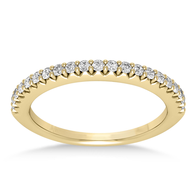 Diamond Accented Wedding Band 18k Yellow Gold (0.21ct)
