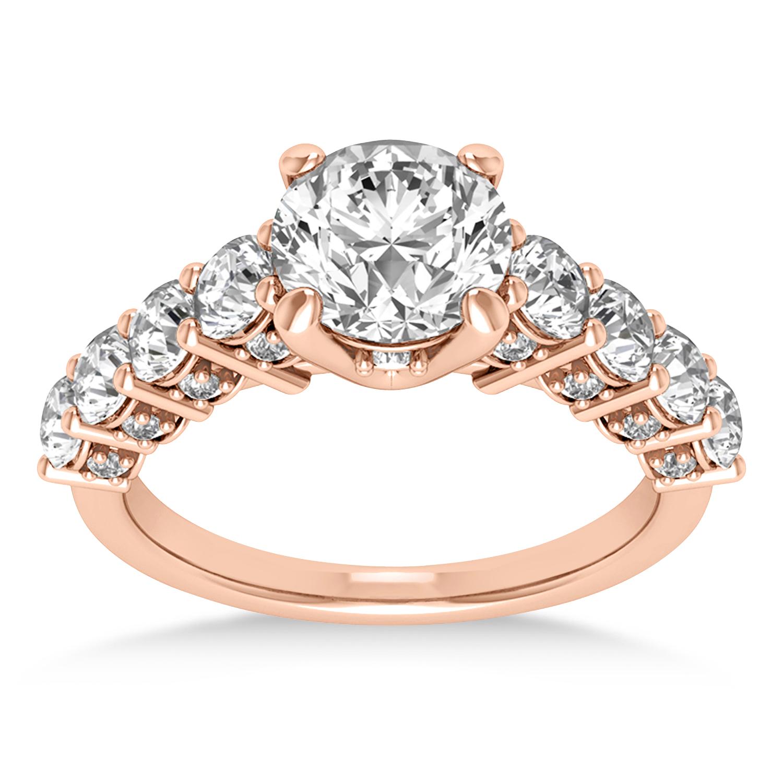 Diamond Prong Set Engagement Ring 14k Rose Gold (1.06ct)