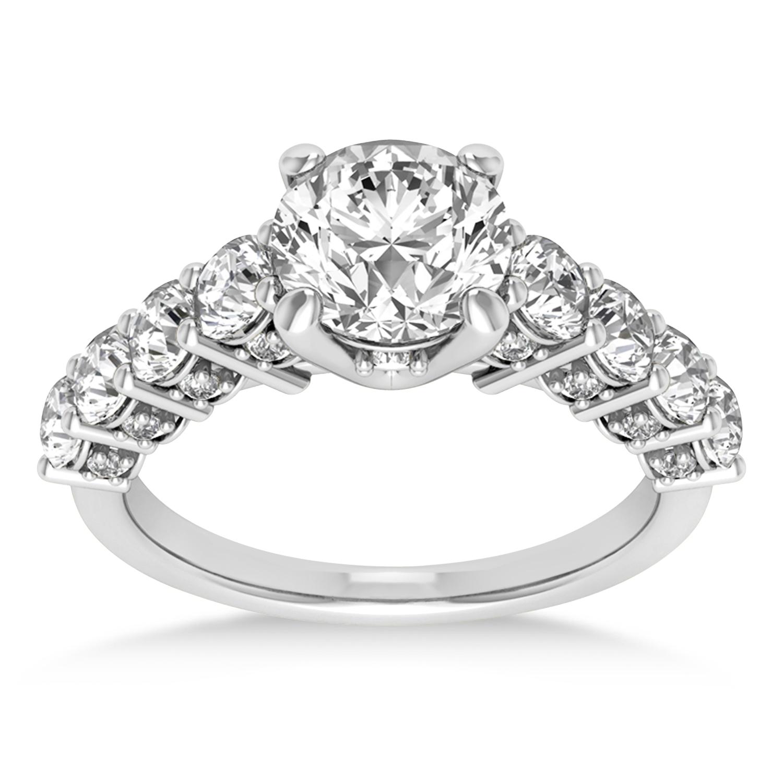 Diamond Prong Set Engagement Ring Palladium (1.06ct)