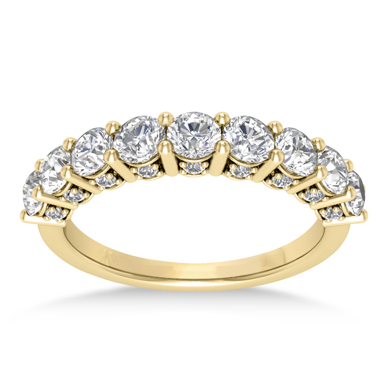 Diamond Prong Set Wedding Band 14k Yellow Gold (1.17ct)