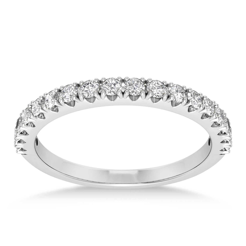 Diamond Accented Wedding Band Platinum (0.36ct)