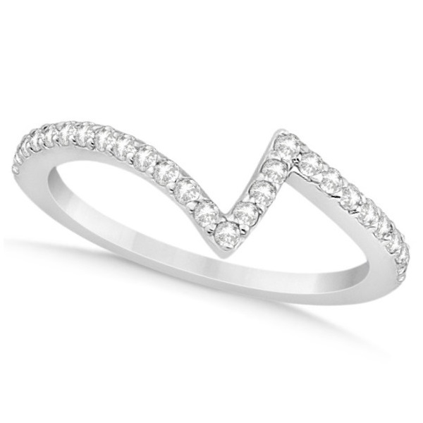 Twisted Diamond Engagement Ring & Wedding Band 14K White Gold 0.52ct