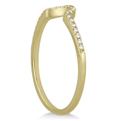 Petite Halo Diamond Engagement Ring & Band 14k Yellow Gold (0.40ct)