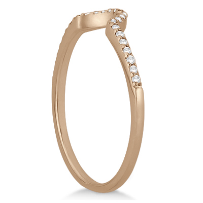 Petite Halo Diamond Engagement Ring & Band 18k Rose Gold (0.40ct)