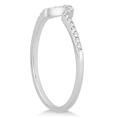 Petite Halo Diamond Engagement Ring & Band 18k White Gold (0.40ct)