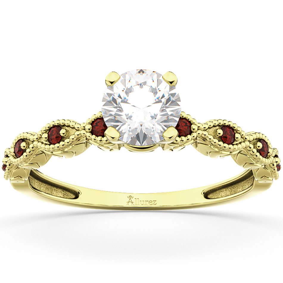 Vintage Marquise Garnet Engagement Ring 14k Yellow Gold (0.18ct)