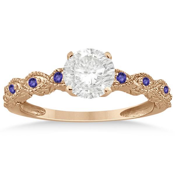 Vintage Marquise Tanzanite Engagement Ring 14k Rose Gold (0.18ct)
