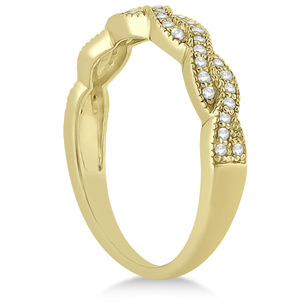 Infinity Style Bridal Set w/ Diamond Accents 18k Yellow Gold (0.55ct)