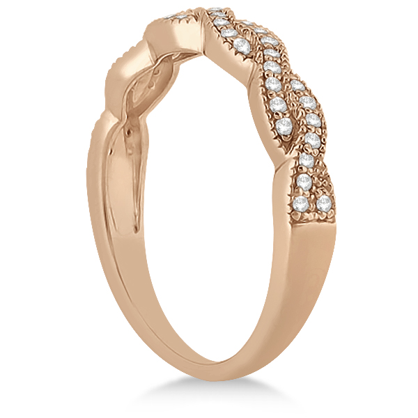 Diamond Infinity Semi-Eternity Wedding Band 14k Rose Gold (0.30ct)