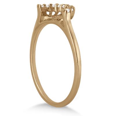 Petite Halo Engagement Ring & Wedding Band 16k Rose Gold (0.32ct)