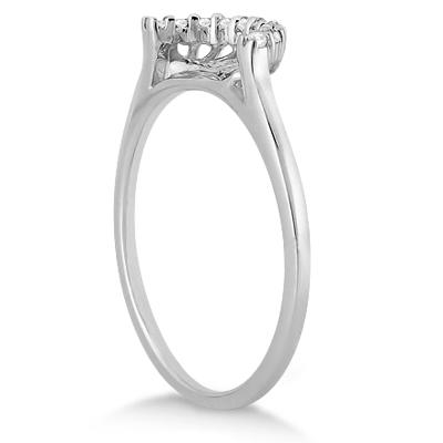Petite Diamond Wedding Band 14k White Gold (0.12ct)