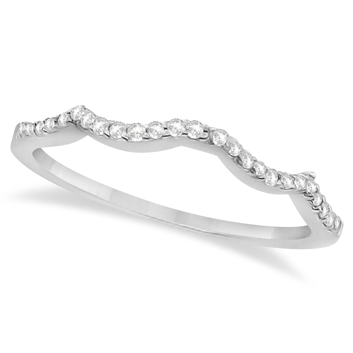 infinity princess cut bridal ring set 14k white