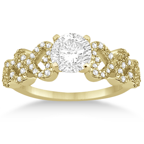 Heart Shape Diamond Engagement Ring Setting 18k Yellow Gold (0.30ct)