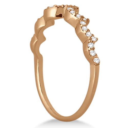 Heart Shape Diamond Engagement & Wedding Ring 14k Rose Gold (0.50ct)
